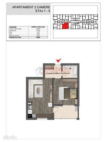 Inchiriez apartament 2 camere-tip studio-Nemobilat-1 min Metrou