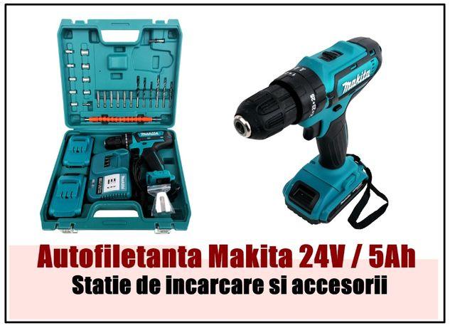 Bormasina Makita 24V / 5 amperi 25 accesorii si doi acumulatori
