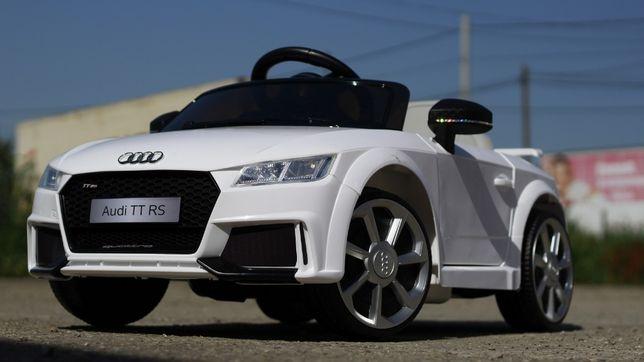 Masinuta electrica pentru copii Audi TT RS 2x 25W 12V #Alb