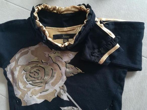 Junona детско якенце и черен комплект с роза.