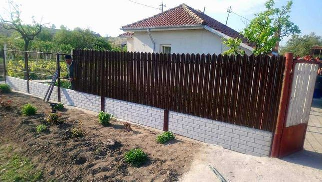 Garduri din sipca metalica, fier forjat, BCA, plasa, placi, jaluzele