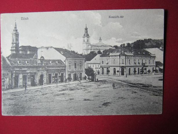 Ilustrata veche,Zalau.Zilah,Zillenmarkt,1918.