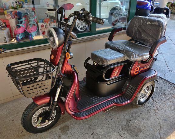 Tricicleta Electrica Deluxe, Motor 500W, Acumulator 48V, 12Ah