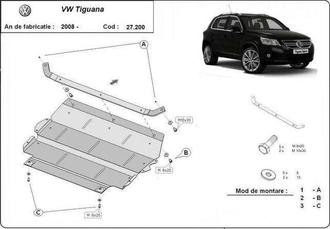 Scut metalic pentru motor VW Tiguan 2008-2016 - otel 2mm