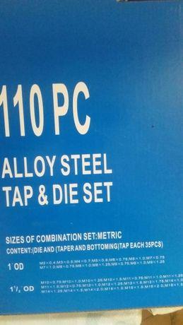 Плашки и метчици метална кутия 110 части
