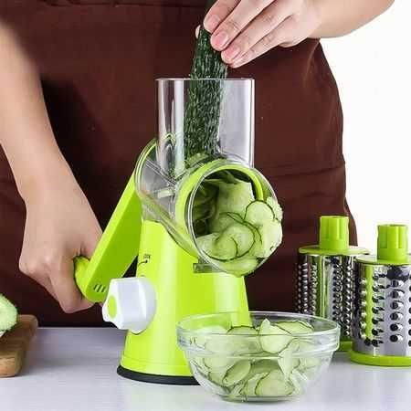 Razatoare manuala Verde pentru fructe si legume cu 3 lame