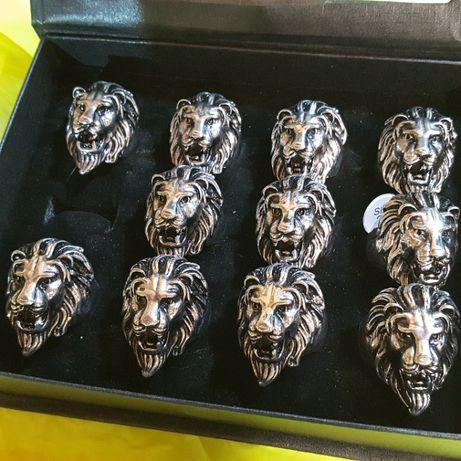 10 buc. inel skull cap de leu