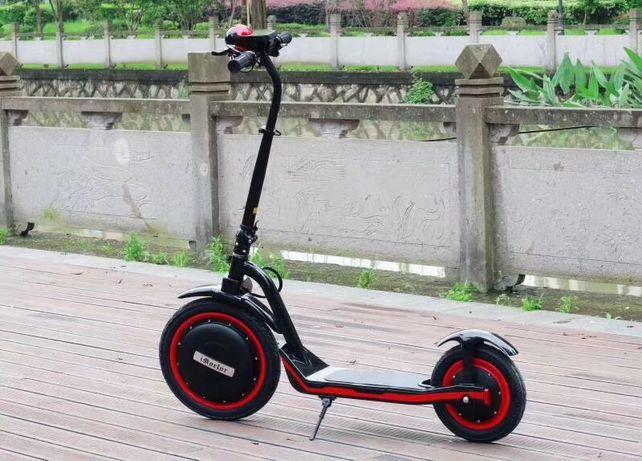 Trotineta electrica pliabila 16 inch iVELO C1 black&red