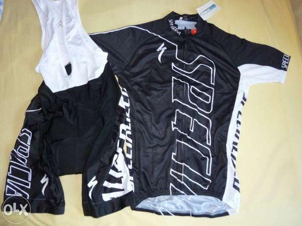 echipament ciclism specialized negru set pantaloni tricou