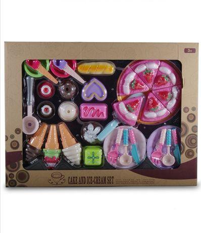 Детски комплект за торта и сладолед Детски играчки хранителни продукти
