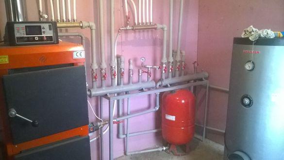 монтаж на отоплителни системи,радиатори,котли,камини термо помпи
