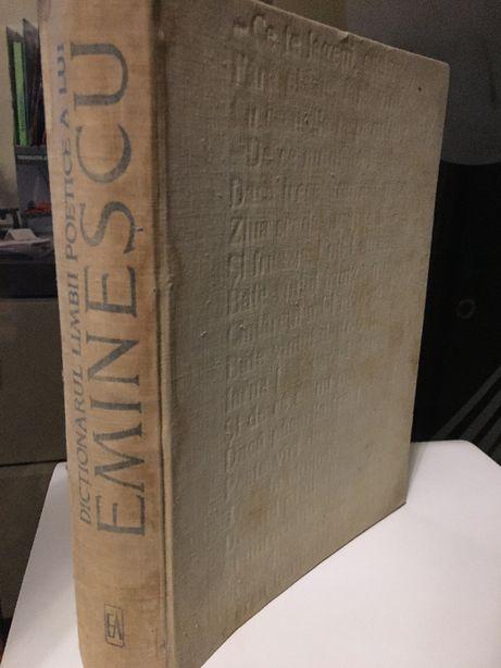 """carte """"dictionarul limbii poetice a lui Eminescu"""" Tudor Vianu 1968"""