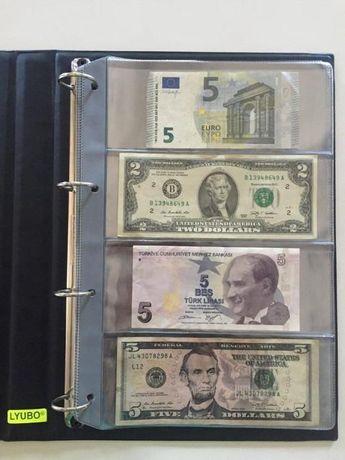 Листи за банкноти с 4 полета 10бр - 10лв
