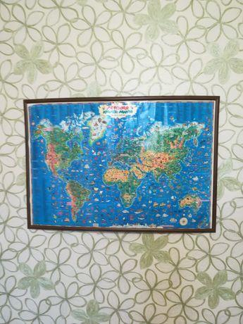 Продам детскую карту мира