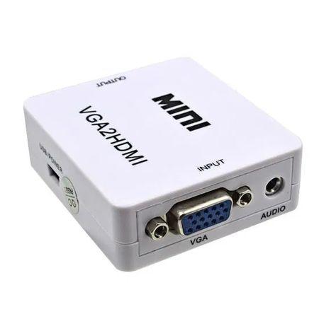 VGA към HDMI преходник с аудио и захранване + Гаранция