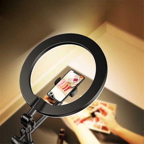 Снимайте фото и видео сверху, удобный штатив с кольцевой лампой
