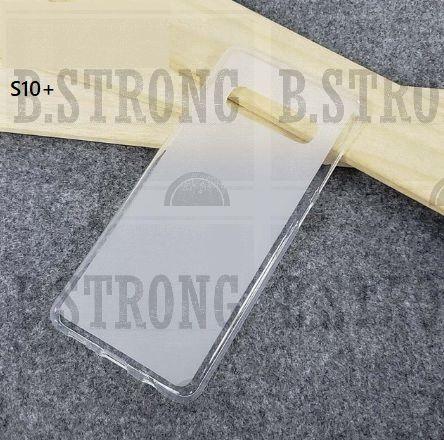 Husa silicon cu partea transparenta clear pentru Samsung s10 sau s10+