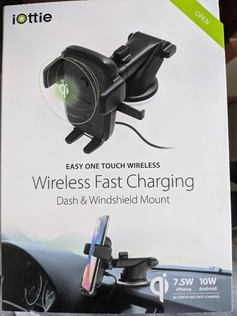 iOttie HLCRIO134 Easy One Touch 4 Qi Wireless Car Mount with Fast Char