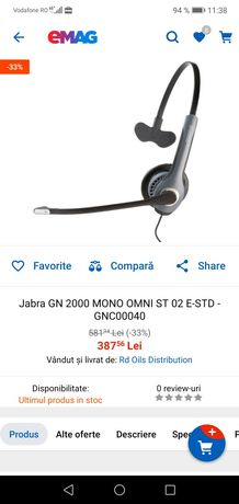 Casca Jabra GN 2000 Mono cu Bluetooth