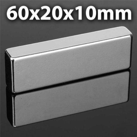 60/20/10mm неодимов МАГНИТ N52, Neodymium magnet NdFeB magnit neodimov