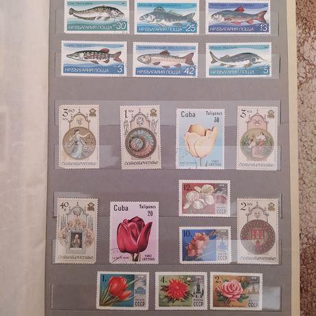 Почтовые марки разных стран.