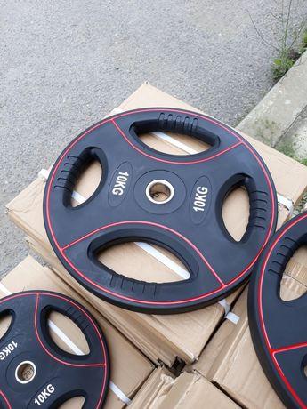 Дискове 2 бр × 10 кг -  Полиуретанови  Тежести ø30 мм