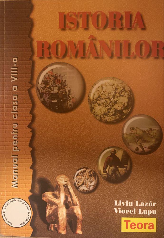 Manual Clasa a 8-a Istoria Românilor, Editura Teora, 200 pagini