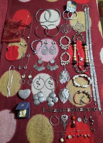 Lot bijuterii bratar colier inel cercei cruciulita lant pandant argint