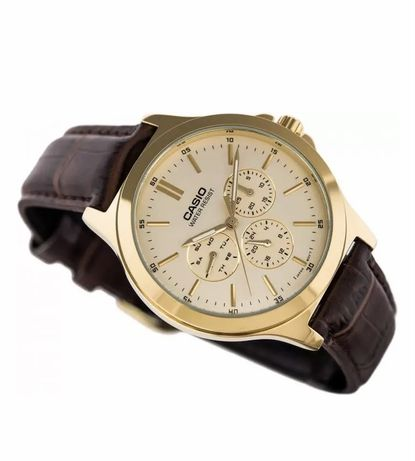 Новые Часы CASIO MTP-V300GL-9AUDF Brown-Gold