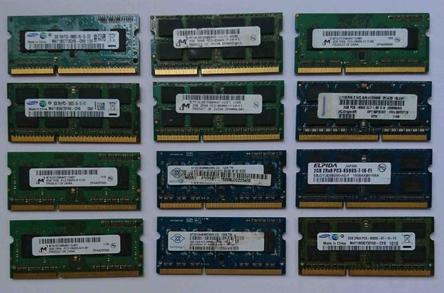 Memorie RAM SODIM DDR3 PC3 PC3L 2Gb 4Gb 8Gb kit-uri 2x 2Gb 2x 4Gb