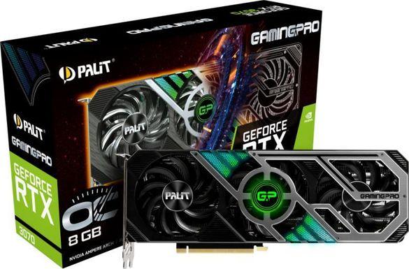Видеокарта Palit GeForce RTX 3070 GamingPro OC 8GB GDDR6 256bit нова