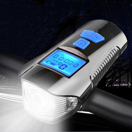 USB акумулаторен Компютър фар клаксон Километраж за колело велосипед