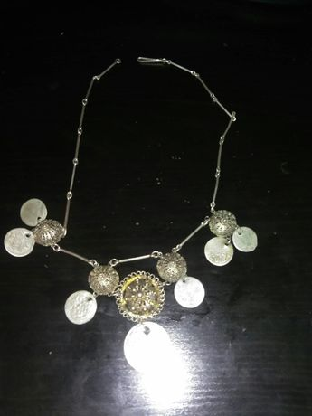 Продавам сребърен накит за врат филигран живачна позлата Уникат