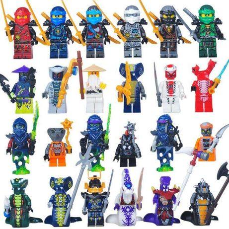 Set 24 Minifigurine tip Lego Ninjago cu Serpentini