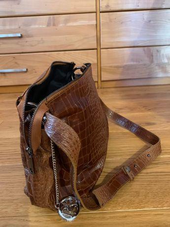 Нова дамска чанта, естествена кожа Pia Sassi Italy