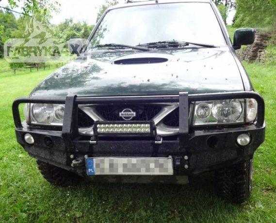 Bara fata Bullbar OFF ROAD cu suport de troliu - Nissan Terrano 1 / 2