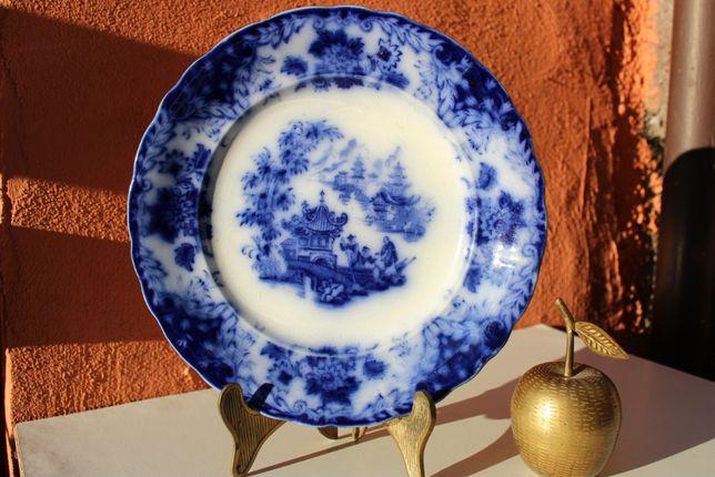 Farfurie portelan de colectie RORSTRAND FLOW BLUE, cca 1880-1920