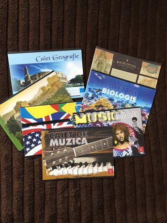 Set 7 caiete speciale (geografie, biologie, muzica), noi