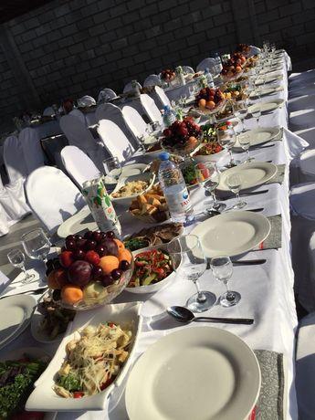 Посуды столы стулья казан Кейтеринг Повар шатер Аренда прокат