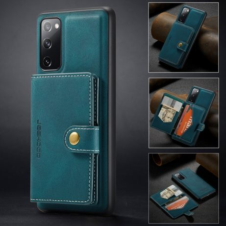 Husa Samsung Galaxy S20 FE CaseME, piele moale,mini portofel detasabil