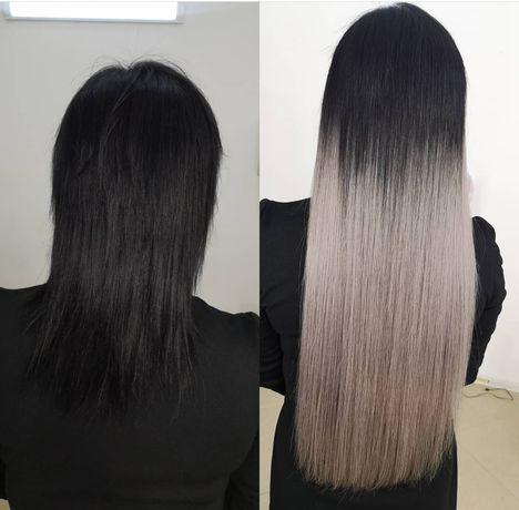 Наращивание волос 35000тг Акция