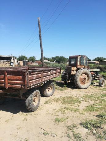 Сак, прицеп, трактор.