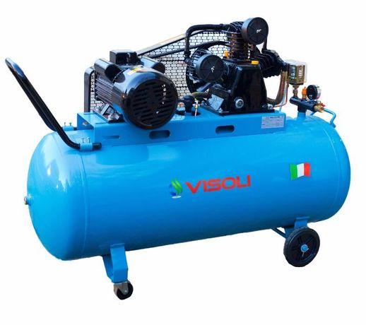 Compresor de aer 200L 10 bari Visoli -Motor 4CP-Bobinaj Cupru