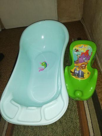 Корито и поставка за сядане на бебе