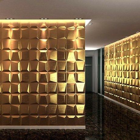 Облицовки за стени, 3D гипсови панели, облицовъчен камък пана № 012