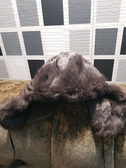 Дамска шапка естествен косъм и подарък още една