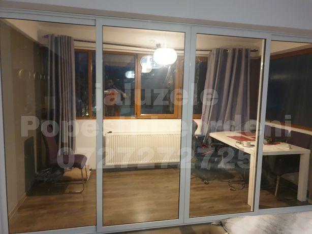 Închideri terase balcoane foisoare cu sticlă duplex sau securizată