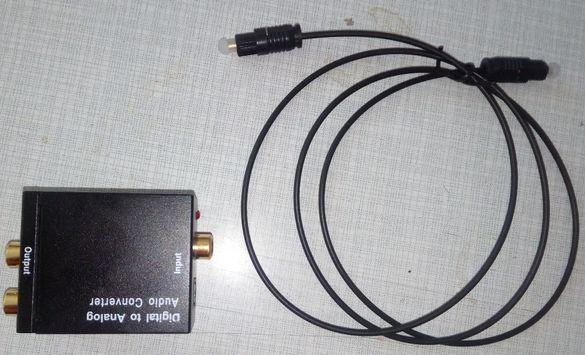 Аудио конвертор- оптика към аналогов