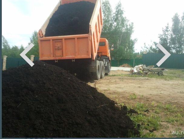 Чернозем 15 тон , Навоз перегной мелкие  с доставкой на камазе 15тон.