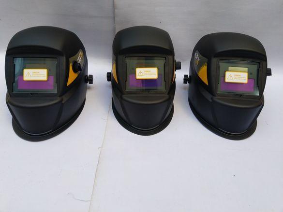 Маски,шлемове заваръчни предпазни.Затъмнение DIN9-13,сменяема батерия